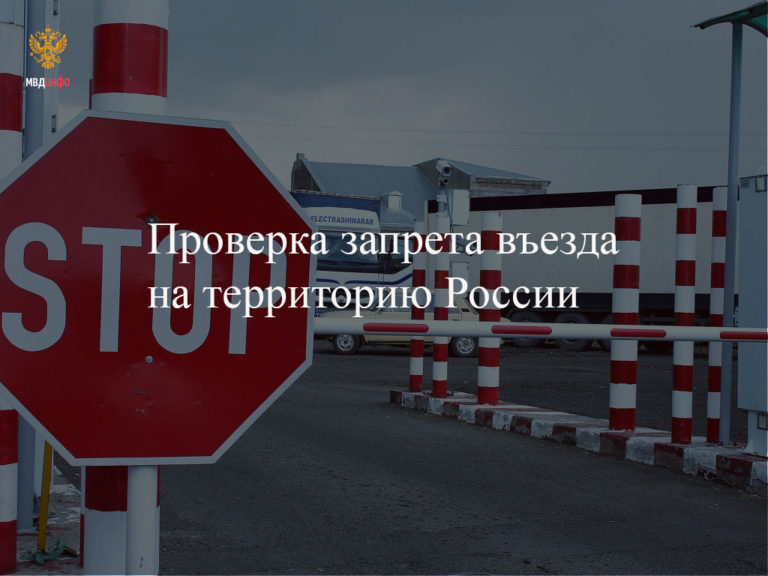 Проверка наличия оснований для неразрешения въезда на территорию Российской Федерации
