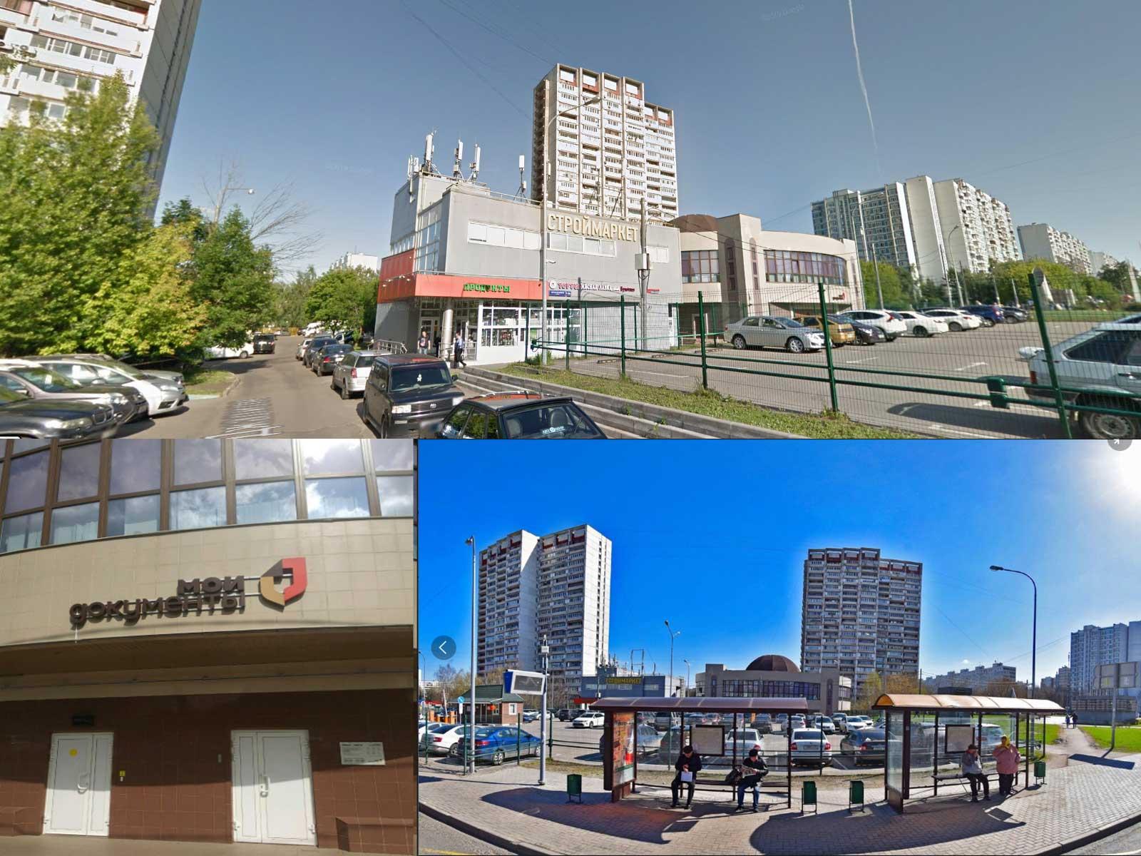 вид на здание УФМС по району Зябликово, ул. Мусы Джалиля, 21, Москва