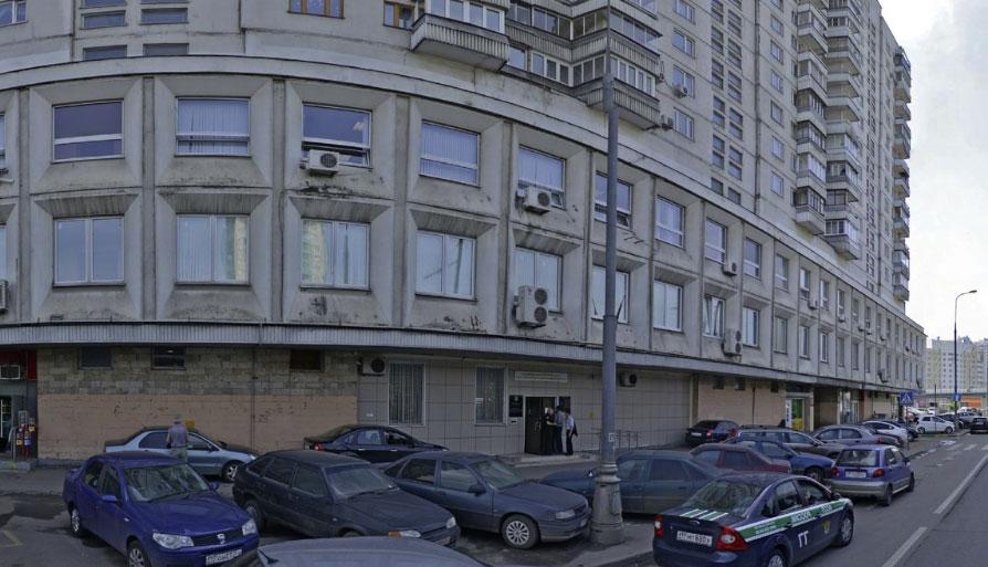 вид на здание УФМС по району Хорошево-Мневники Москва