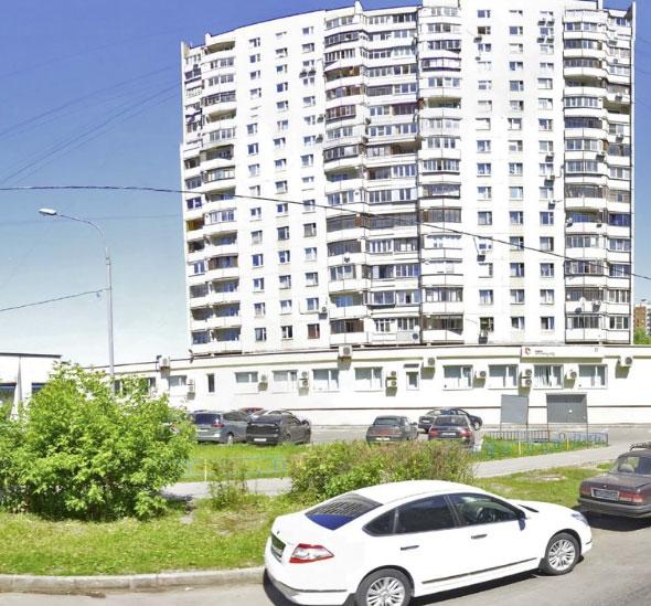 вид на здание УФМС по району  Северное Тушино, Москва