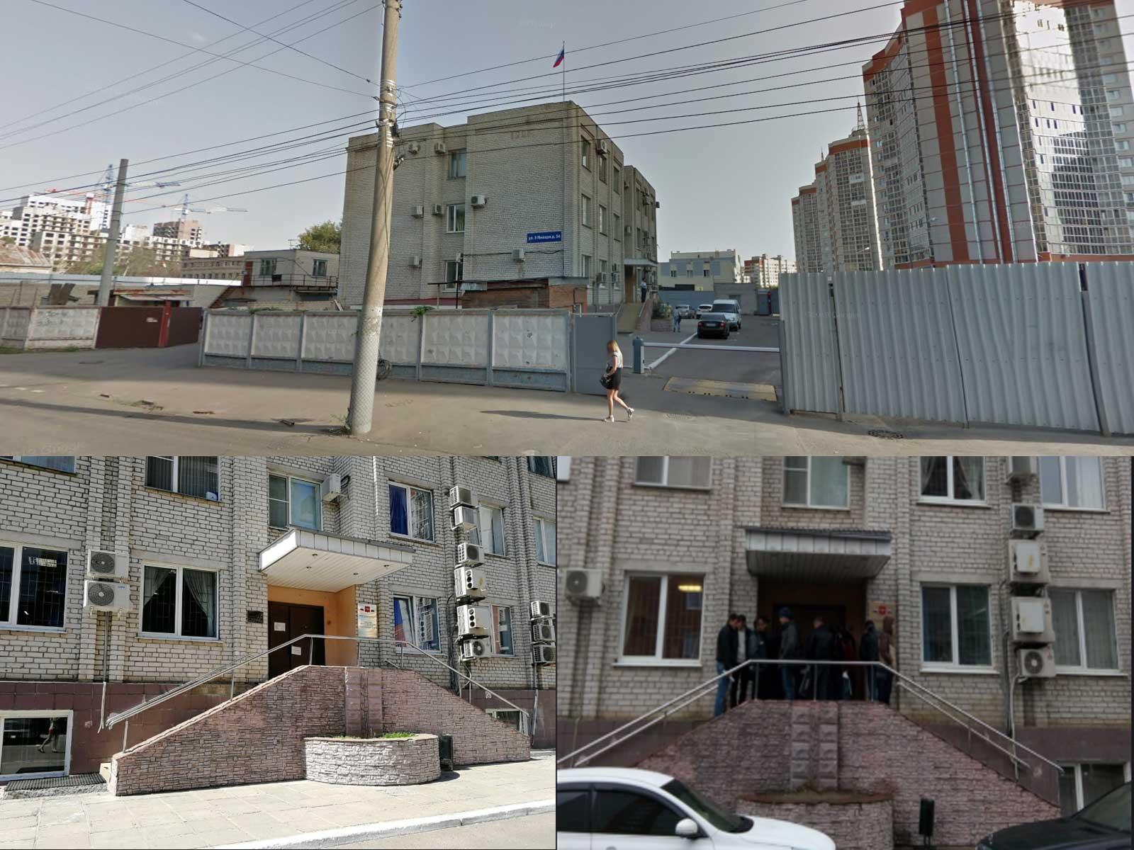 Вид на здание УФМС по Ленинскому району, Воронеж